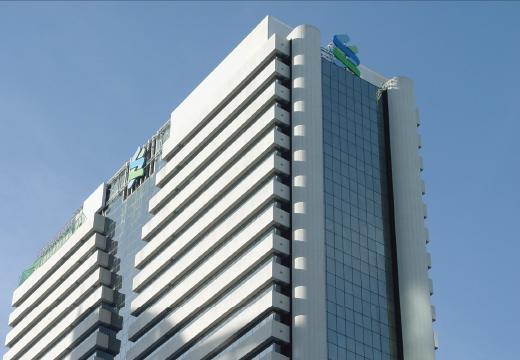 ptssystem : ออกแบบและติดตั้งป้ายโฆษณาบนอาคาร - ธนาคารสแตนดาร์ดชาร์เตอร์ด (ไทย) สาขาเจริญกรุง
